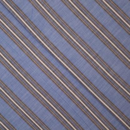 Sélection Coup de coudre - Tissu Jacquard de Coton à Motif Rayures Tissés sur le Fond Bleu