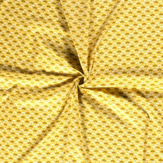Sélection Coup de coudre - Tissu Popeline de Coton Imprimé Eventails sur le Fond Jaune