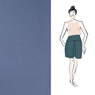 Christine Charles – Kit Couture Jupe Ambrosia Uni Couleur Bleu Denim