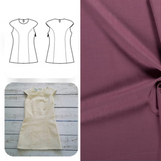 Christine Charles – Kit Couture Robe Yselda Uni Couleur Mauve