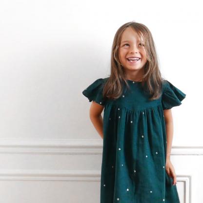 """Ikatee – Patron Enfant Blouse ou Robe """"Louise"""" de 3 à 12 ans"""
