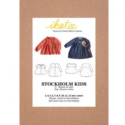"""Ikatee – Patron Enfant Blouse ou Robe """"Stockholm"""" de 3 à 12 ans"""