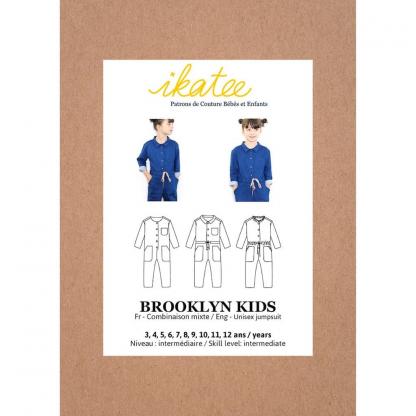"""Ikatee – Patron Enfant Combinaison Mixte """"Brooklyn Kids"""" de 3 à 12 ans"""
