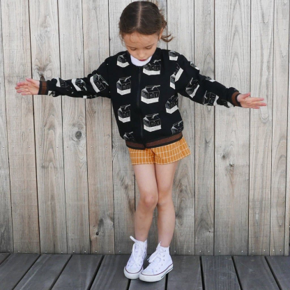 """Ikatee – Patron Enfant Sweat Bomber Mixte """"Jules"""" de 3 à 12 ans"""
