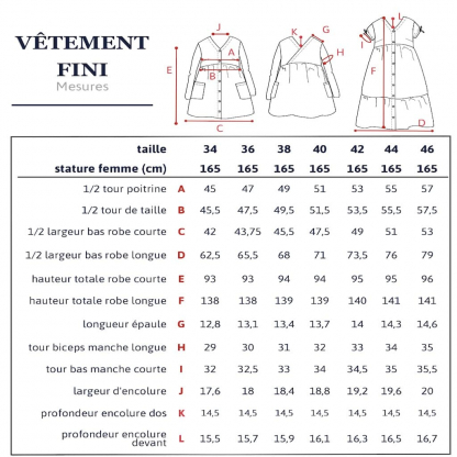 "Ikatee – Patron Femme Robe ""Anna Mum"" du 34 au 46"