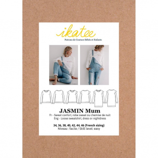 "Ikatee – Patron Femme Sweat ou Robe ""Jasmin Mum"" du 34 au 46"