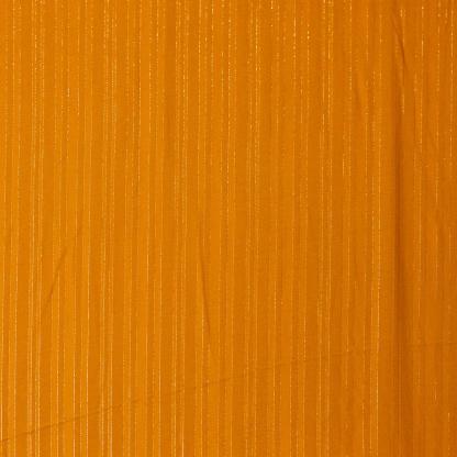 Sélection Coup de coudre - Tissu Challis de Viscose aux Fines Rayures Lurex sur le Fond Miel