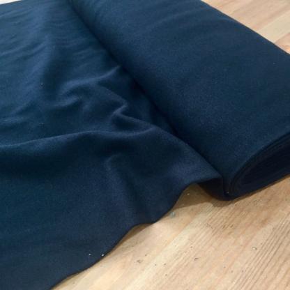 Sélection Coup de coudre - Tissu Jersey Bord-Cotes Tubulaire Uni Couleur Noir