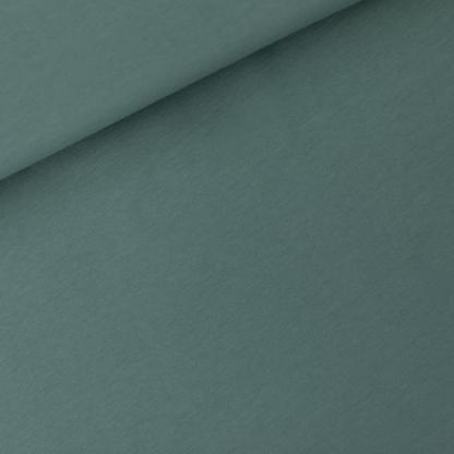 See You at Six - Tissu Jersey Sweat Léger de Coton Uni Couleur Bleu de l'Atlantique Nord