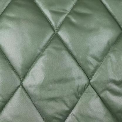 La Maison Victor - Tissu Doudoune Matelassé Impermeable à Motif Losange Uni Couleur Vert Amande et Crème