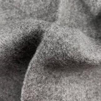 La Maison Victor - Tissu Drap de Laine Mélangé Uni Couleur Gris