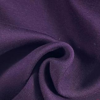 La Maison Victor - Tissu Jersey Sweat de Coton Epais à l'Envers Gratté Uni Couleur Violet