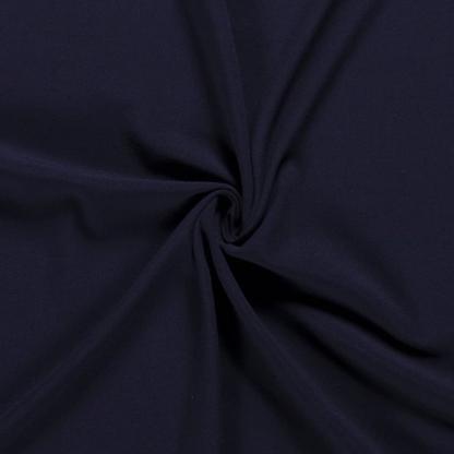 Sélection Coup de coudre - Tissu Crêpe de Viscose Mélangé Uni Couleur Bleu Canard Foncé