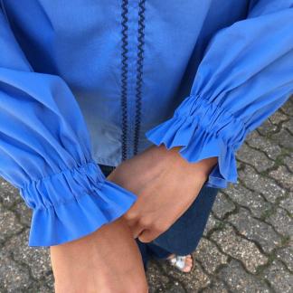 Sélection Coup de coudre - Tissu Popeline de Coton Melangé Uni Couleur Bleu Ciel