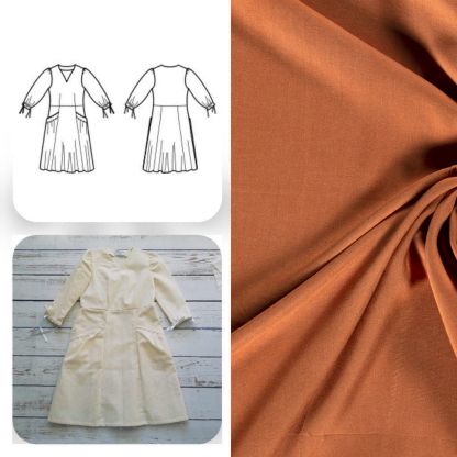 Christine Charles – Kit Couture Robe Eleanora Uni Couleur Miel