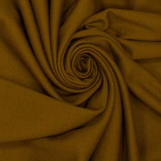 Fibre Mood - Tissu Toile de Viscose Melangé Stretch Uni Couleur Tapenade