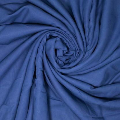 Fibre Mood - Tissu Twill de Lyocell Uni Couleur Bleu Foncé