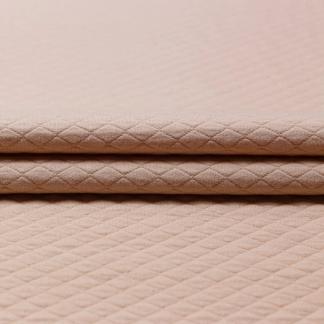Sélection Coup de coudre - Tissu Jersey Molletonné Matelassé Uni Couleur Rose Poudré
