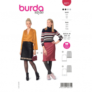 Burda Style – Patron Femme Jupe Forme Droite n°6071 du 34 au 44