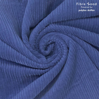 Fibre Mood - Tissu Velours Côtelé Uni Couleur Bleu Roi