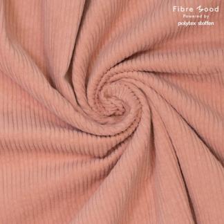 Fibre Mood - Tissu Velours Côtelé Uni Couleur Rose Nude