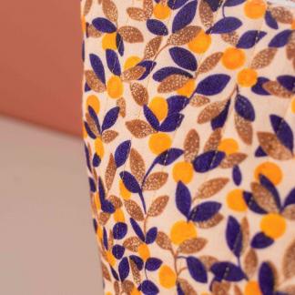 """Lise Tailor - Tissu Toile de Coton Imprimé """"Mandarine"""" sur le Fond Rose"""