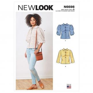 New Look – Patron Femme Blouse Boutonnée n°6698 du 34 au 46