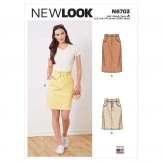 New Look – Patron Femme Jupe n°6703 du 34 au 46
