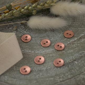 See You At Six - Bouton de Couture en Métal Lisse Coloris Cuivre Rosé