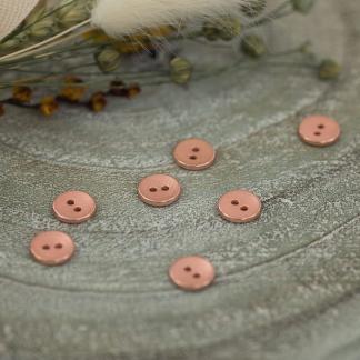 See You At Six - Bouton de Couture en Métal Texture Coloris Cuivre Rosé